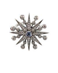 Colette - Gray Diamond and Moonstone Starburst Ring - Lyst