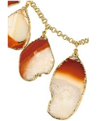 Dara Ettinger - Metallic Holly Goldplated Agate Necklace - Lyst