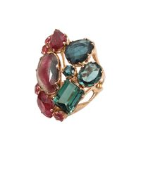 Federica Rettore | Pink and Green Tourmaline Ring | Lyst