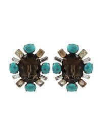 Iradj Moini | Blue Oval Quartz Turquoise Earrings | Lyst