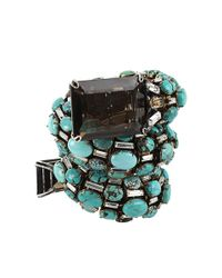 Iradj Moini | Blue Turquoise Coil Snake Cuff with Quartz | Lyst