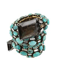 Iradj Moini - Blue Turquoise Coil Snake Cuff with Quartz - Lyst