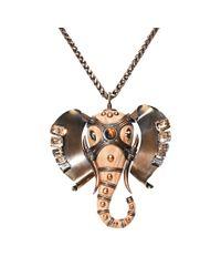 Lanvin - Metallic Embellished Elephant Choker - Lyst