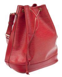 Louis Vuitton Red Noe Satchel