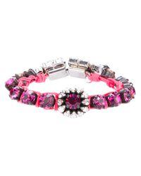 Shourouk | Pink Baraka Flower Bracelet | Lyst