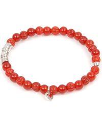 Tateossian | Red Carnelian and Silver Disc Bracelet | Lyst