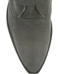 Toga Pulla Gray Buckled Suede Ankle Boots