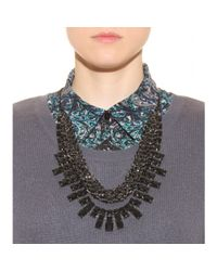 By Malene Birger - Black Pionni Selftie Embellished Necklace - Lyst