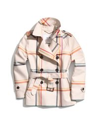 COACH Multicolor Tattersall Short Trench
