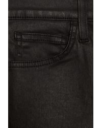 Current/Elliott | Black The Fling Coated Boyfriend Jeans | Lyst