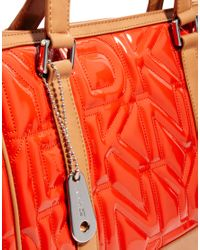 DKNY Active - Orange Quilted Logo Shopper Bag - Lyst