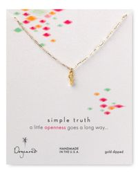 Dogeared - Metallic Simple Truth Openness Necklace 16 - Lyst