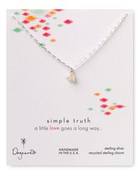 Dogeared - Metallic Simple Truth Love Necklace 16 - Lyst