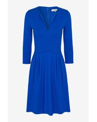French Connection Blue Classic Edie Viscose Jersey Dress