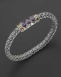 John Hardy | Metallic Small Sterling Silver Small Chain Bracelet with Amethyst | Lyst