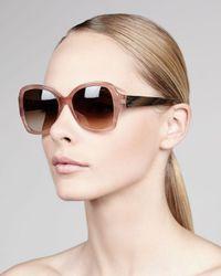 Lanvin Gradient Butterfly Sunglasses Pink