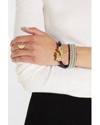 Mallarino - Black Mr Elephant Goldplated Resin Bracelet - Lyst