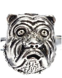 Humor | Metallic Tally Hoe Bulldog Ring for Men | Lyst