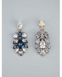 Anton Heunis Metallic Swarovski Crystal Earrings