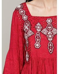 Free People Embroidered in Jacquard Top