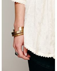 Free People Natural Embroidered in Jacquard Top