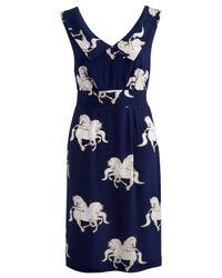 Joules Blue Joules Lynette Horse Print Dress Navy