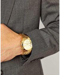 Michael Kors Metallic Watch Layton Goldtone Chronograph for men