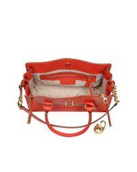 Michael Kors Red Hamilton Saffiano Leather Satchel