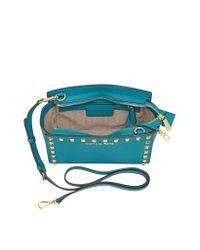 Michael Kors Black Selma Studded Saffiano Leather Crossbody Bag