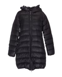 Duvetica | Black Down Jacket With Hood - Blue | Lyst