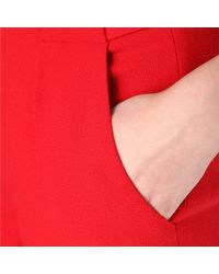 Roland Mouret Red Roland Mouret Carillon Cropped Trousers