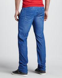True Religion Blue Geno Slim Corduroy Pants Royal for men