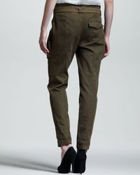 A.L.C. Green Randall Slim Belted Pants