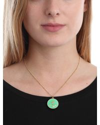 BaubleBar - Red Coral Anchor Button Pendant - Lyst