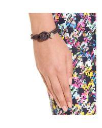 Bottega Veneta | Brown Knot Woven Leather Bracelet | Lyst