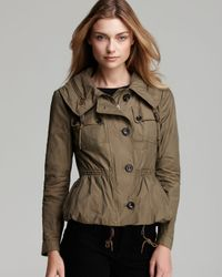 Burberry Brit | Brownsby Parka with Cinched Waist and Concealed Hood | Lyst