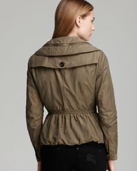 Burberry Brit - Brownsby Parka with Cinched Waist and Concealed Hood - Lyst