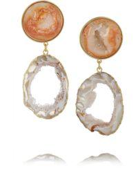 Dara Ettinger | Multicolor Ada Goldplated Agate Geode Earrings | Lyst
