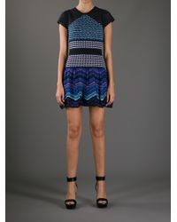 M Missoni Women S Knit Mixed Print Dress