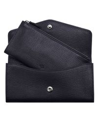 Mulberry Black Dome Rivet Continental Wallet