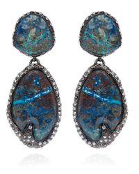 Alexis Bittar - Multicolor Antiqued Rhodium Chrysocolla Cordova Clipon Earrings - Lyst