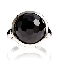 Azendi Dome Facets Large Black Cocktail Ring