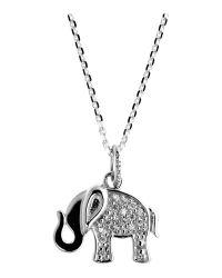 Azendi | Metallic So Lucky Elephant Pendant | Lyst