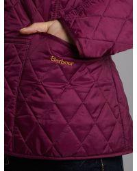 Barbour Purple Summer Liddesdale Quilted Jacket