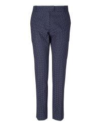Boutique by Jaeger Blue Louisa Spotty Trousers