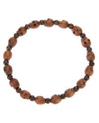 Chan Luu Brown Skull Bead Bracelet