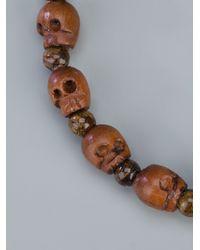 Chan Luu - Brown Skull Bead Bracelet - Lyst