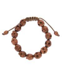 Chan Luu | Brown Skull Beaded Bracelet for Men | Lyst