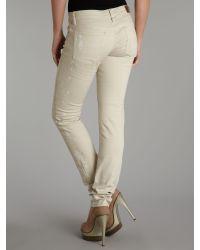 Denim & Supply Ralph Lauren Natural Low Rise Light Wash Slim Jean
