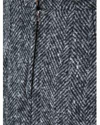 Dolce & Gabbana Gray Herringbone Skirt
